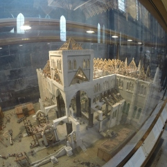 mini model of what the Cathedral looked like during construction