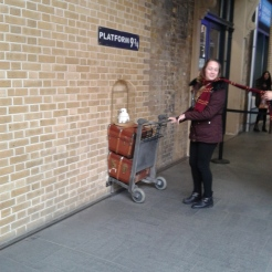 PLATFORM 9 3/4!!! the line was Huge... next time though