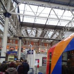 Enter London via Kings Cross Station