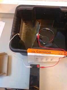 Battery, Anode, Cathode, Salt Water+ Citric Acid