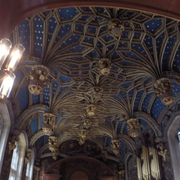 The ceiling from Wolsey's two story chapel - shhh I wasn't supposed to take a picture