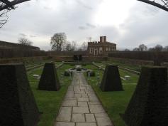 just one of the lavish gardens surrounding Hampton Court