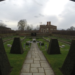 just one of the lavish gardens surrounding Hampton Court