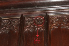 Henry and Anne's initials... a slightly better picture with additive.