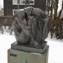 """Sleep"" inside The Einar Jónsson Sculpture Garden"
