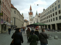 Walking to old town in Munich