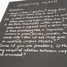 """Questions posed at """"Answering Pravu"""""""