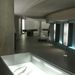 jewellery exhibition in the basement