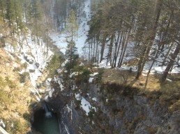 view down from the bridge
